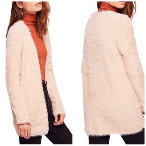 Free people faux fur sweater